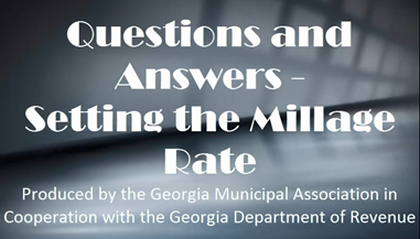 Setting the Millage Rate Webinar