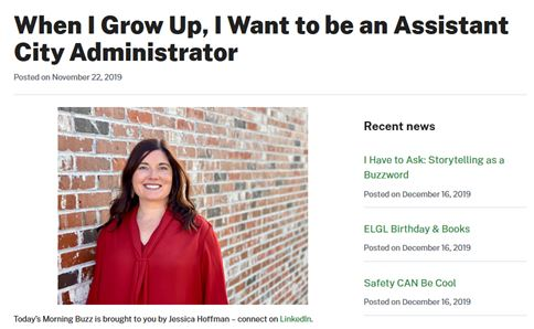When I Grow Up, I Want to be an Assistant City Administrator