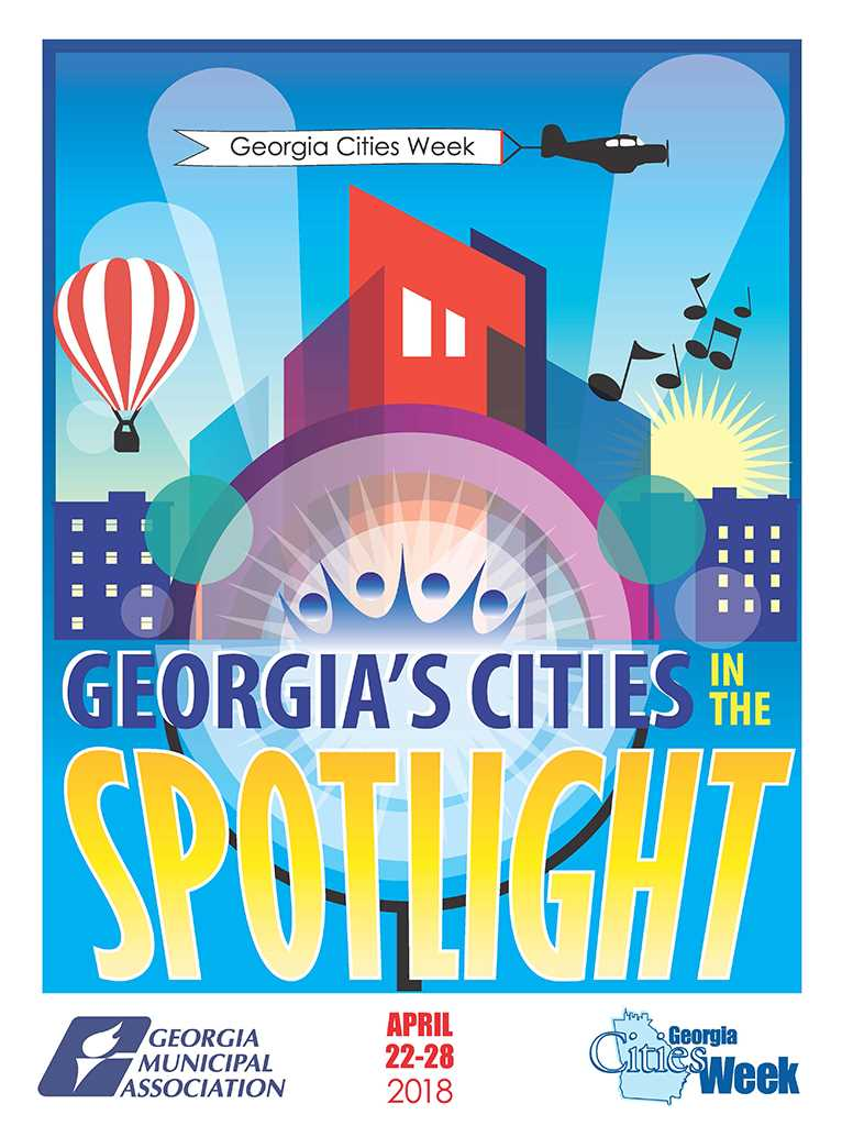 2018 Georgia Cities Week Poster